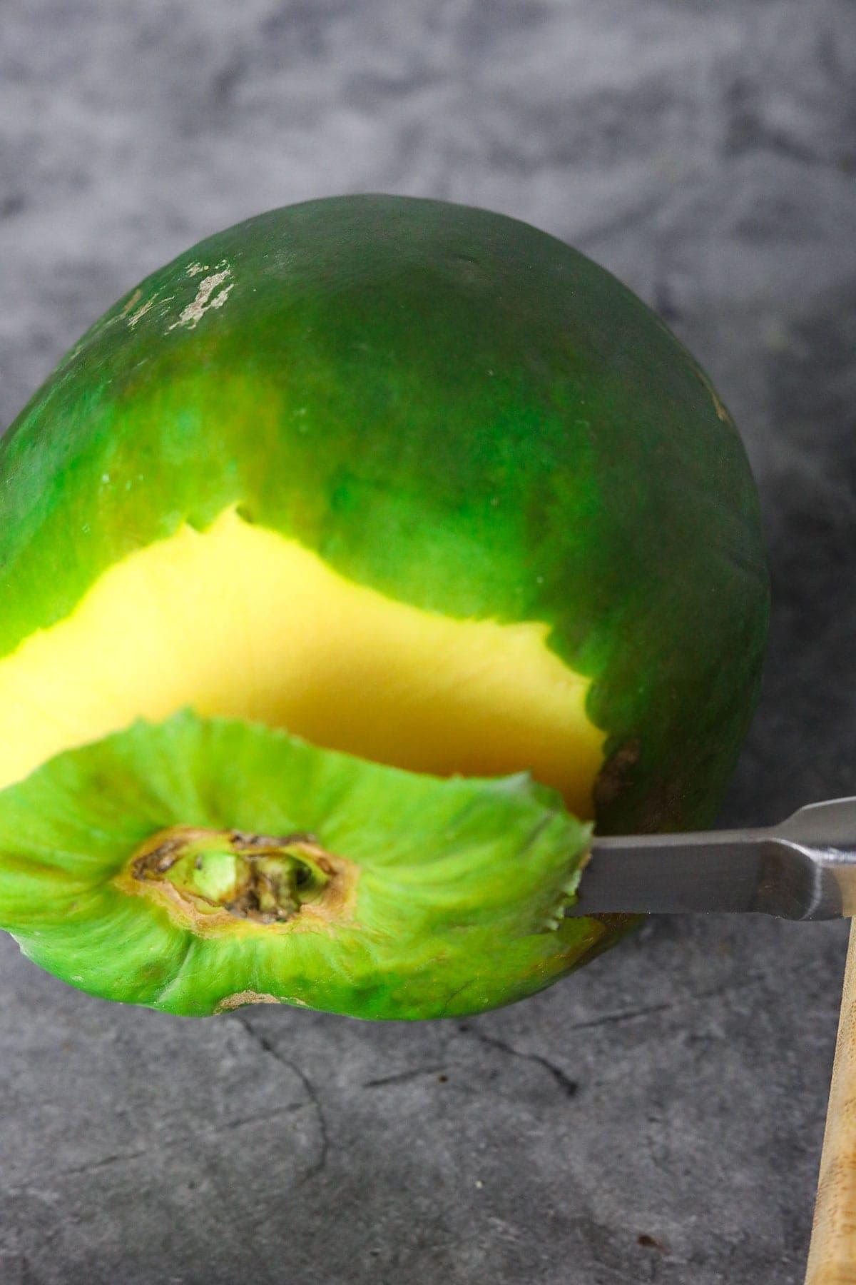 green papaya for curry papaya