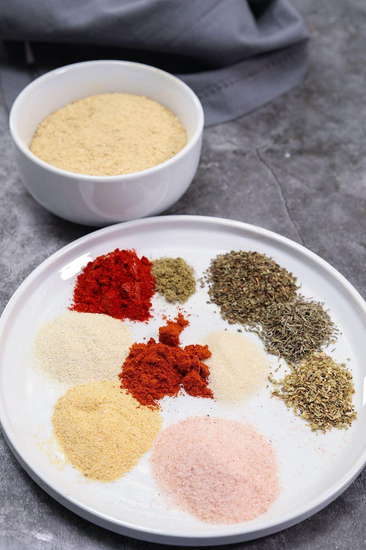 Ingredients for chicken style seasoning
