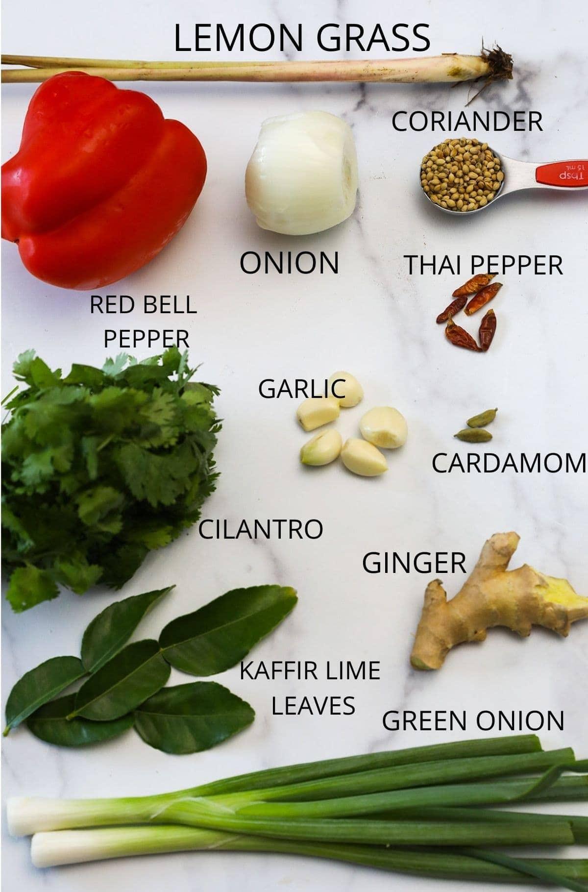 Vegan thai curry paste