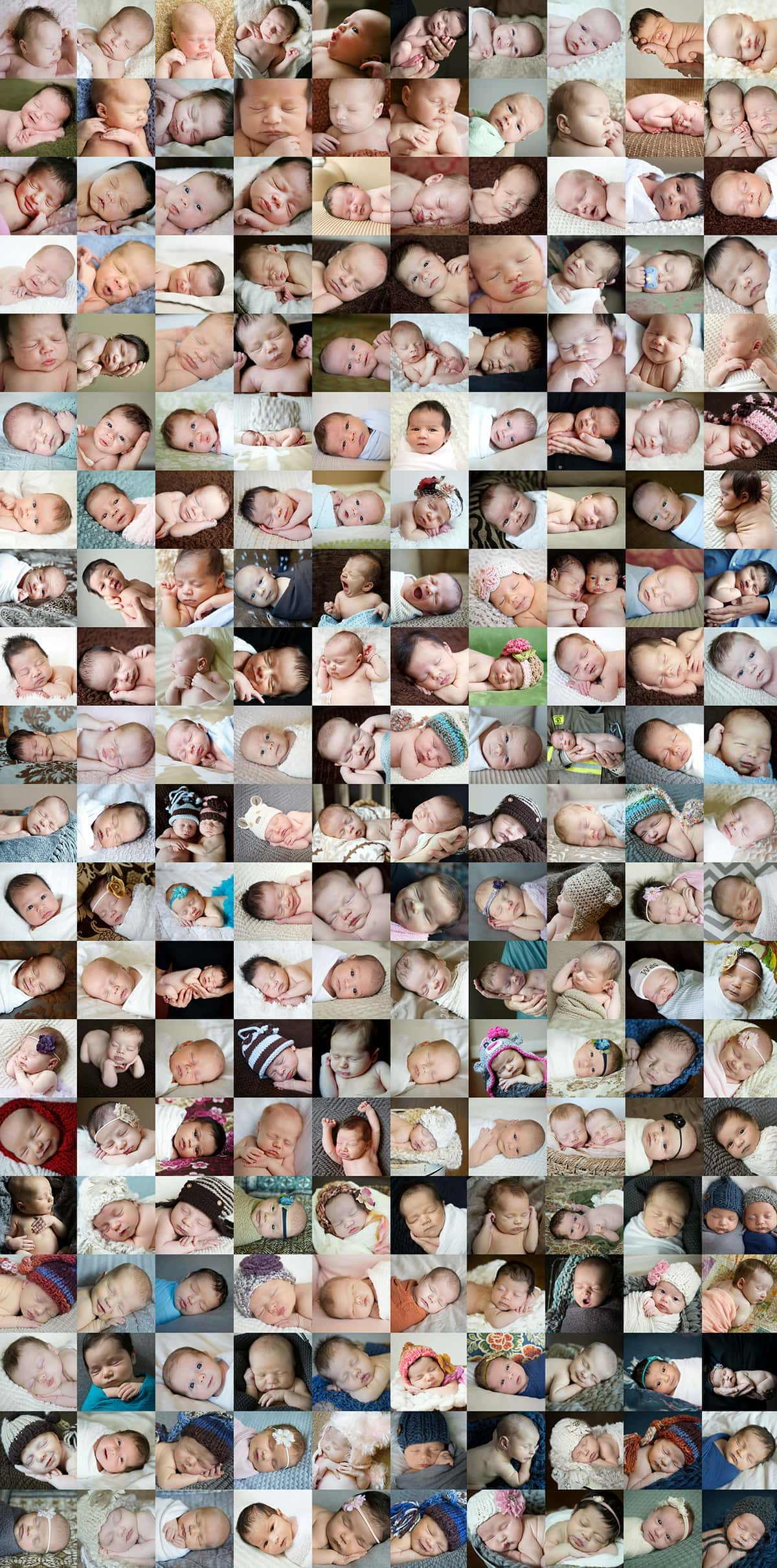 Babies 5-25 days old, from 2005-2015