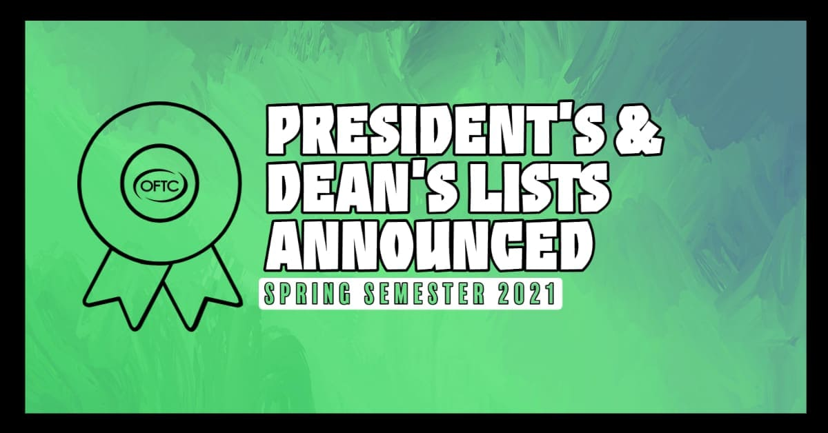 Spring 2021 Semester President's and Dean's List.