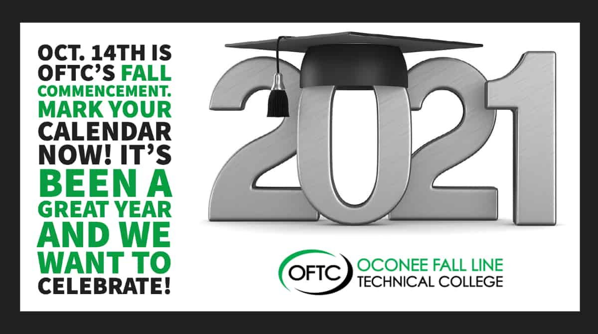 OFTC's Fall 2021 Commencement Ceremony will be Oct. 14 at the College's Dublin Campus.