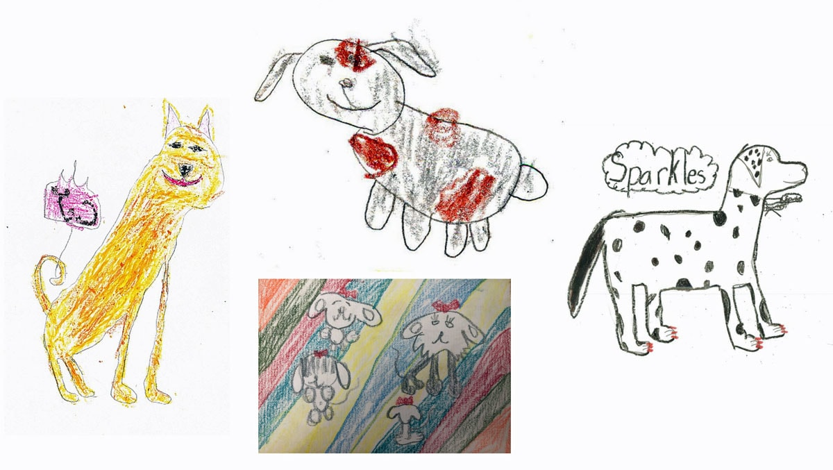 drawings of dogs by kids