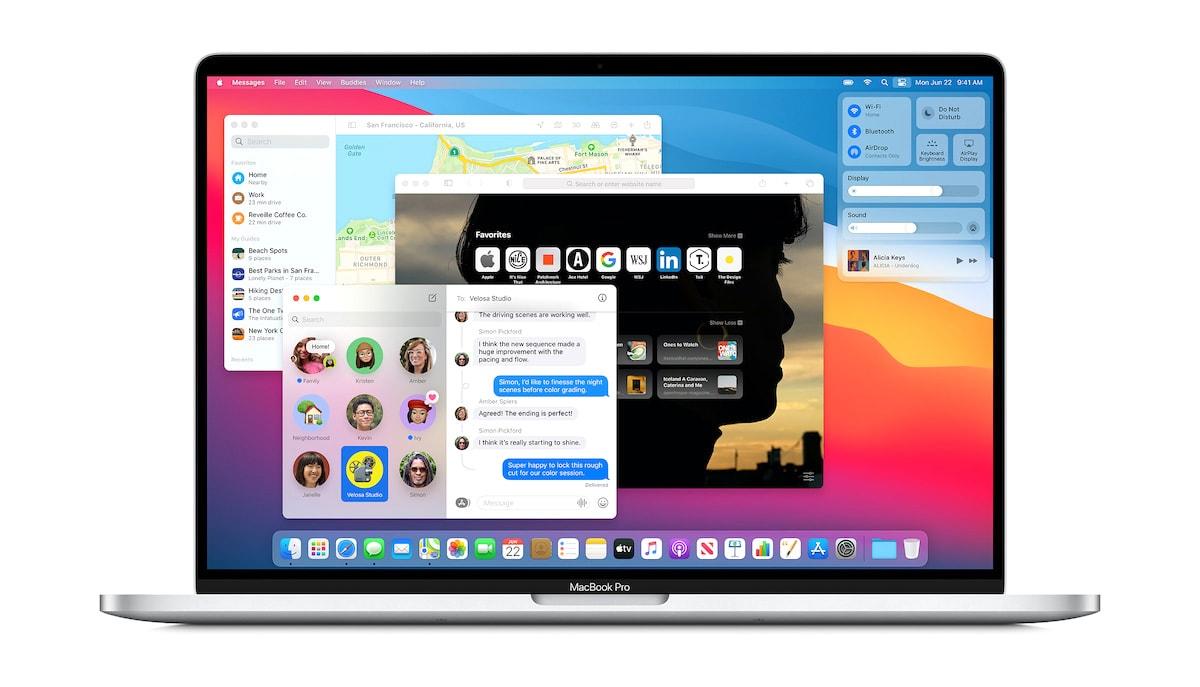 Die neue Benutzeroberfläche von macOS 11 Big Sur