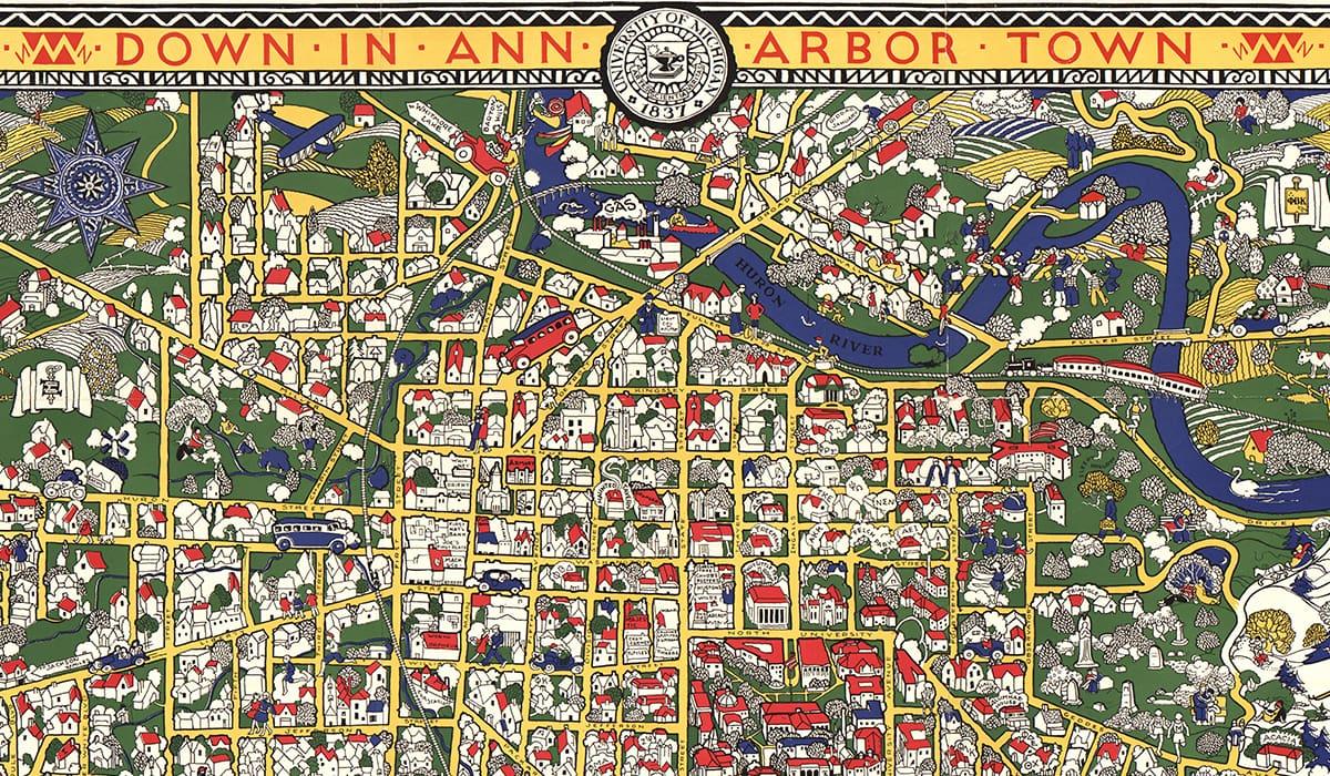 Clark Library Map of Ann Arbor
