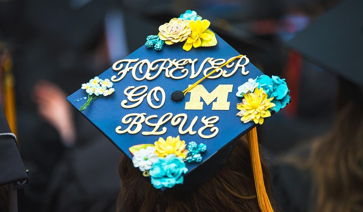 Forever Go Blue Graduation Cap