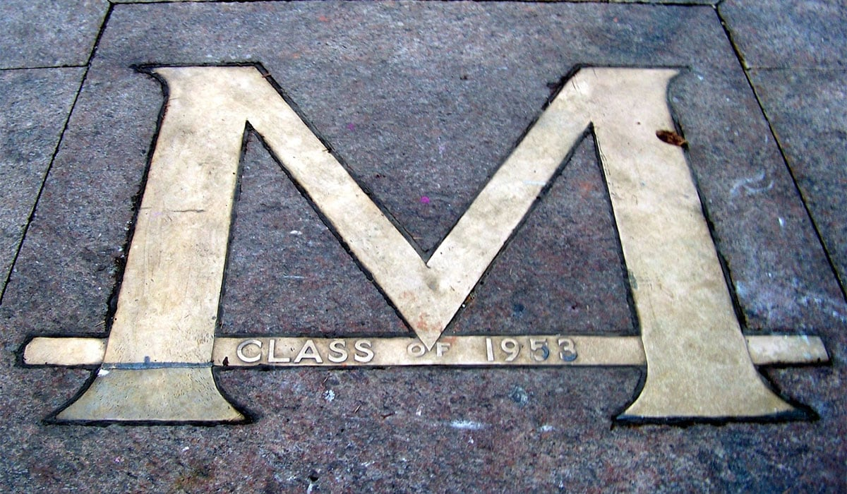 Block M on the Diag of the University of Michigan