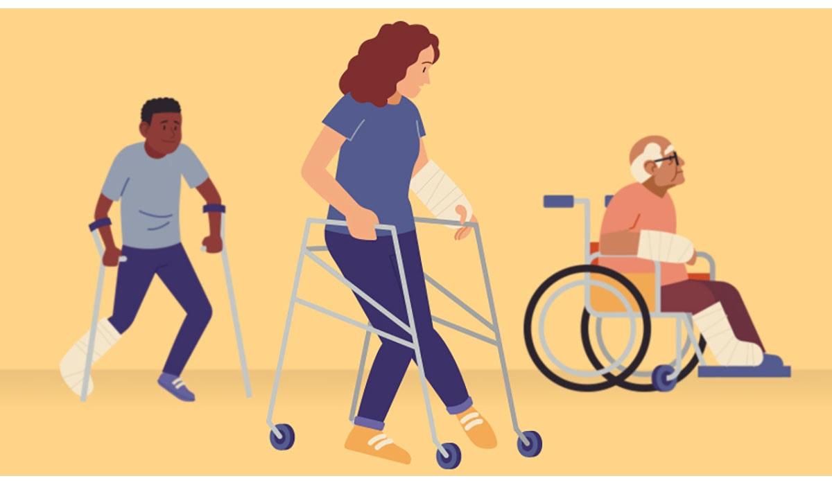 Boy Woman Senior Crutch Walker Gatewayextension