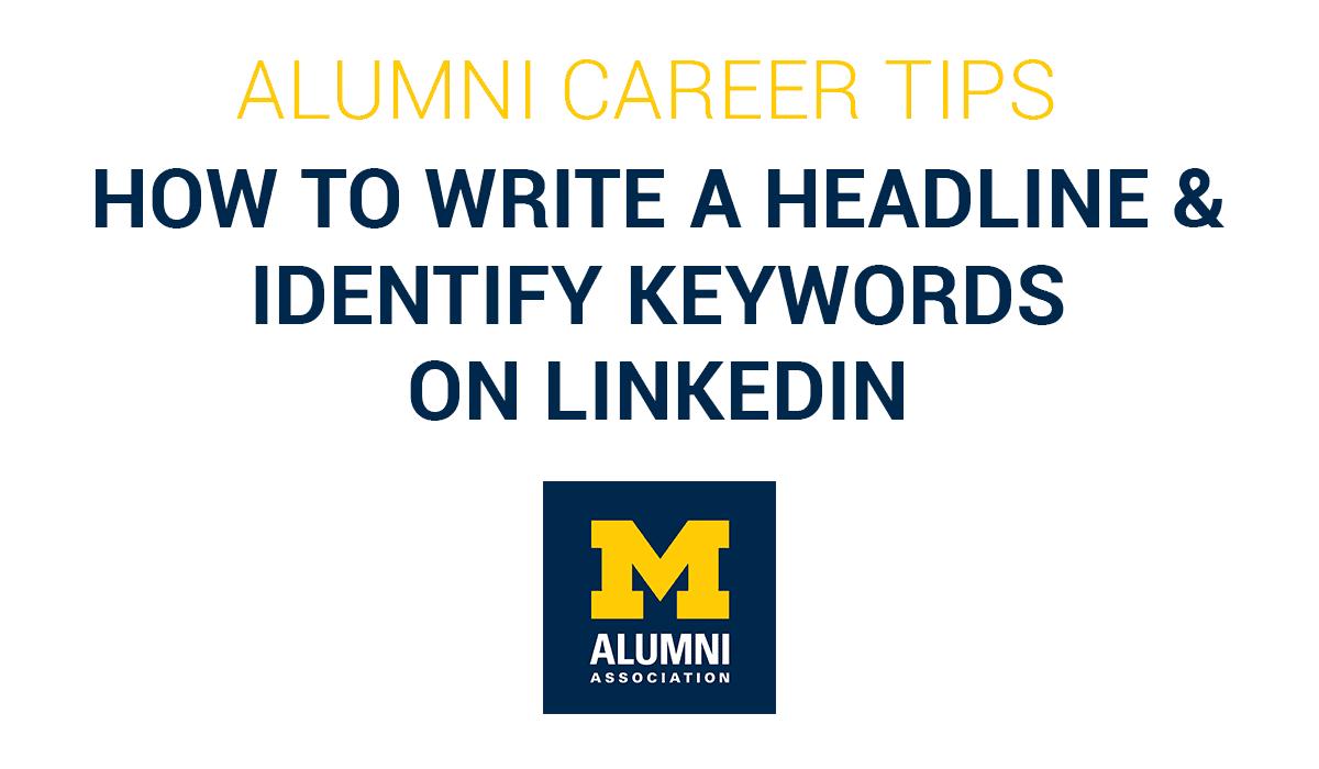 Write Headline and Identify Keywords