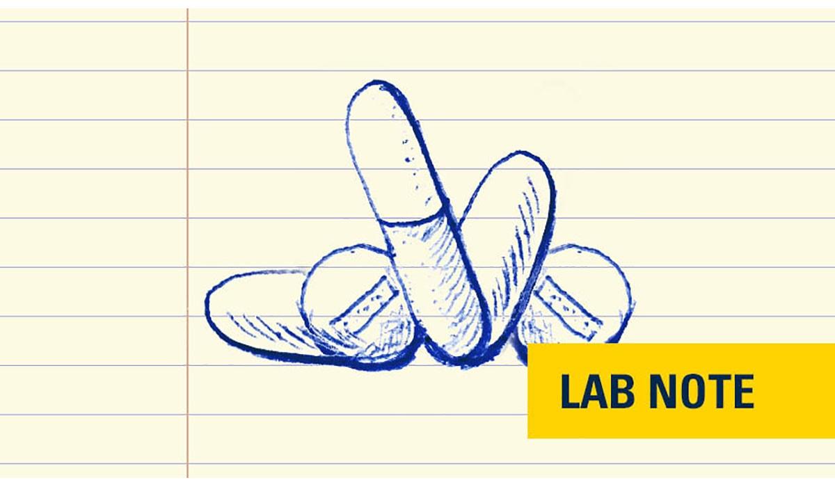 Lab Notes Pills V2 Badge Yellow 0 Gatewayextension
