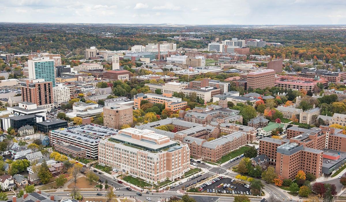 Overhead view of Ann Arbor
