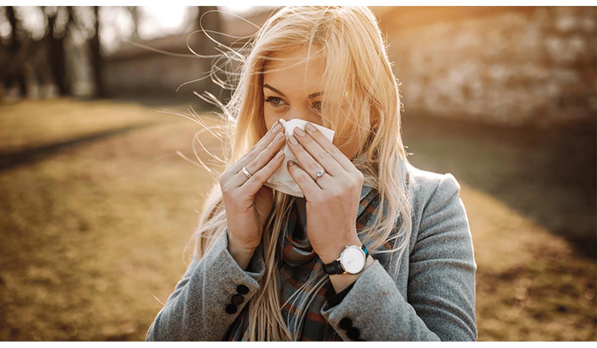 Woman Outside Tissue Nose Sunny Gatewayextension