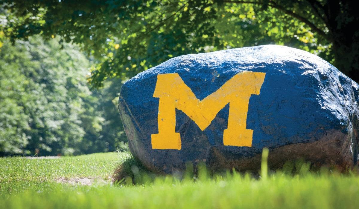 Michigan rock at Camp Michigania