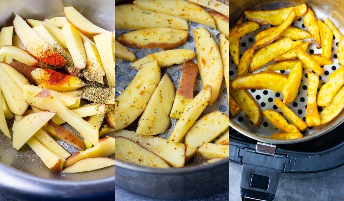 Air Fryer fries step by step method