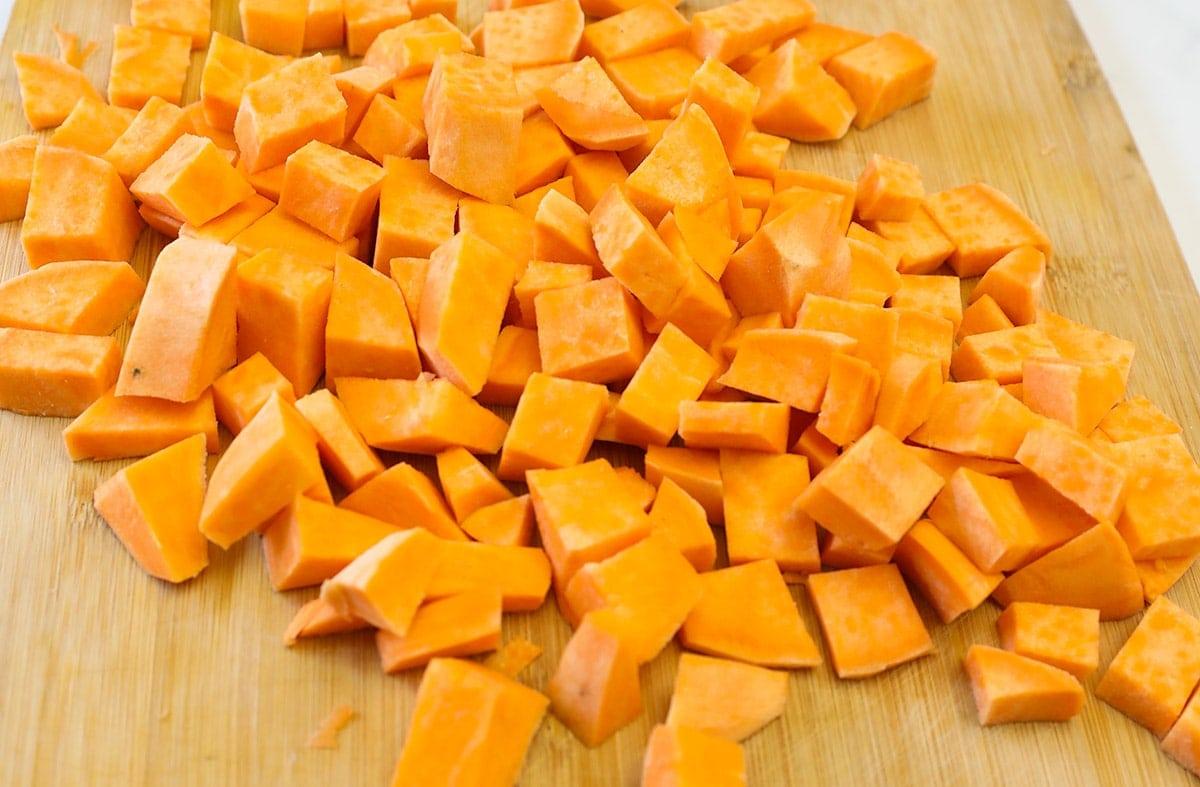 sweet potato cubed
