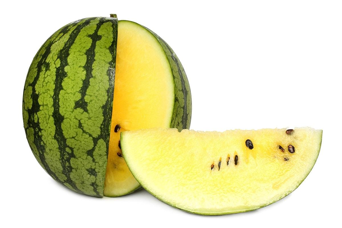 xigua fruit isolated on a white background