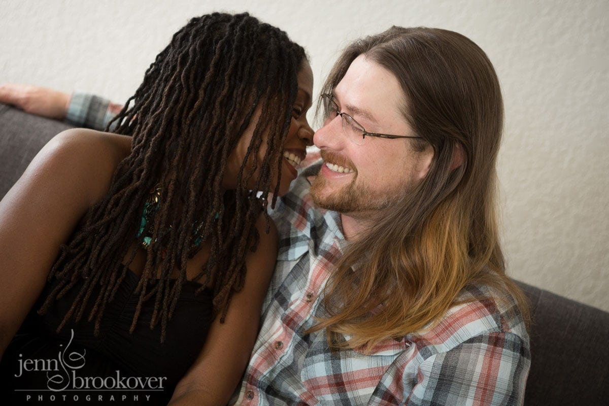 laughing couple during their maternity session in San Antonio by Jenn Brookover
