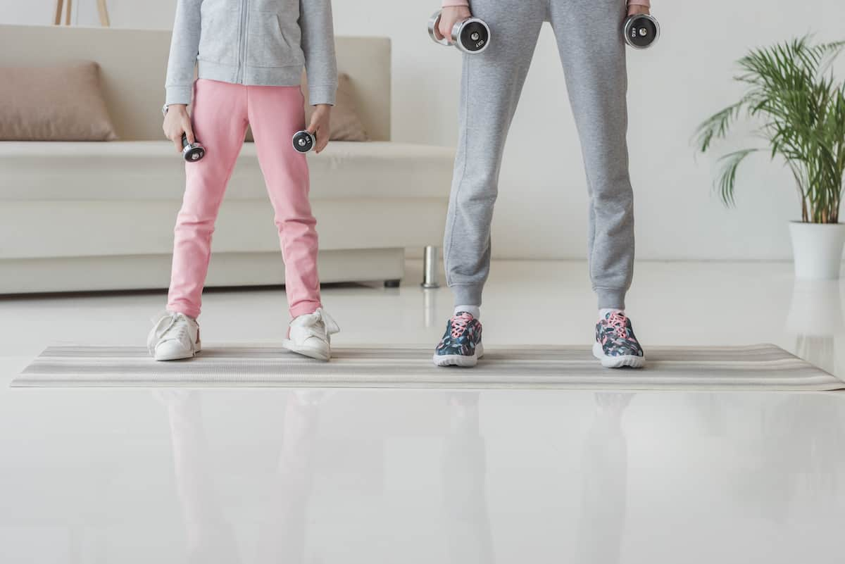 Exercising with Kids lockdown