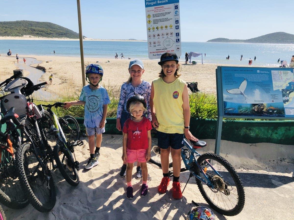 Family Bike Rides Fingal Bay