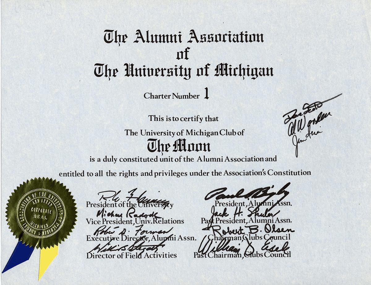 Apollo 15 Certificate