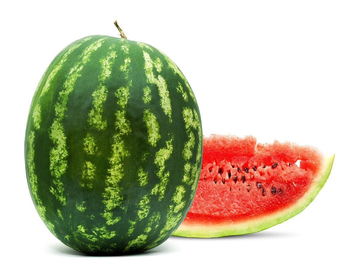 watermelon on white background fruits that start with W