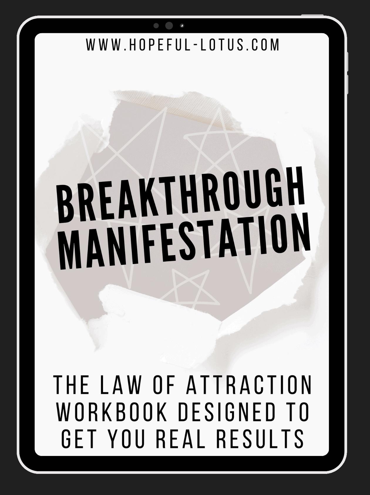 breakthrough manifestation law of attraction ebook
