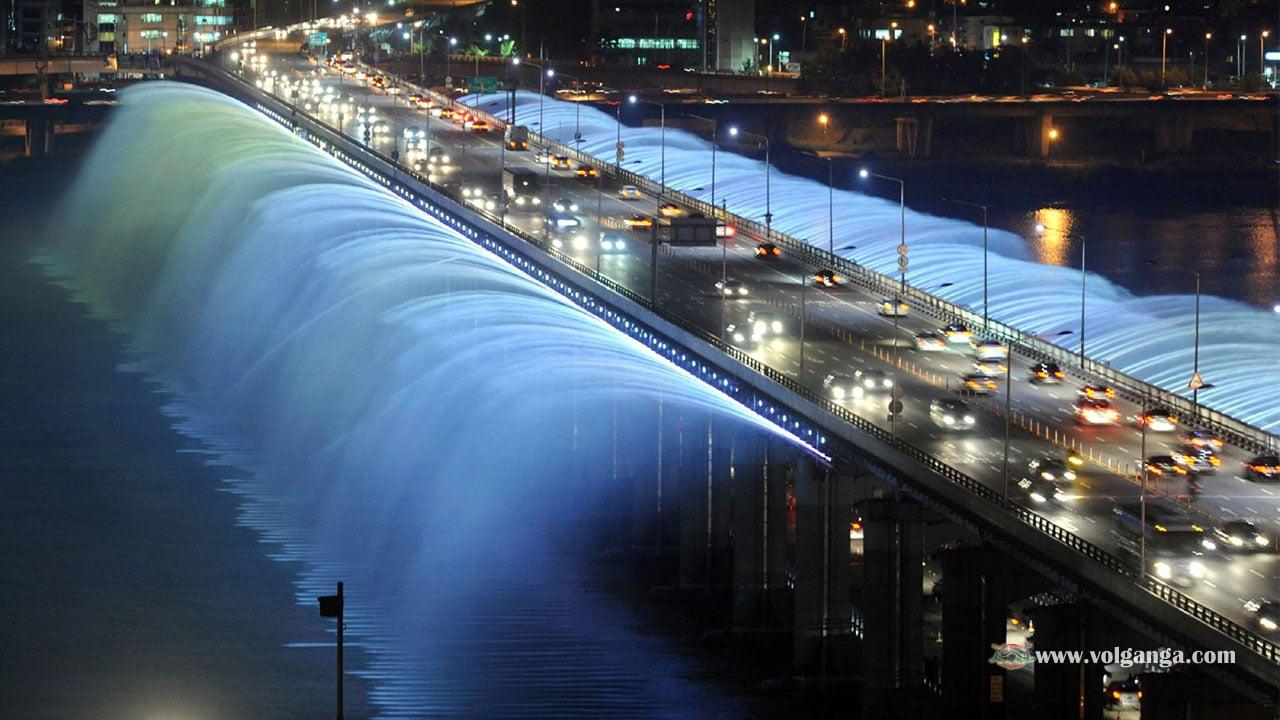 Banpo bridge in South Korea