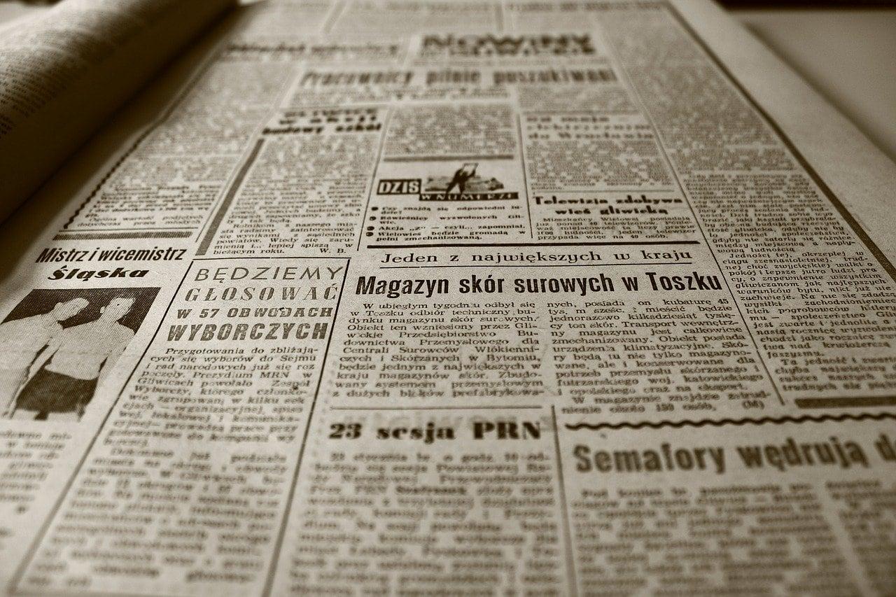 old newspaper, newspaper, retro-350376.jpg