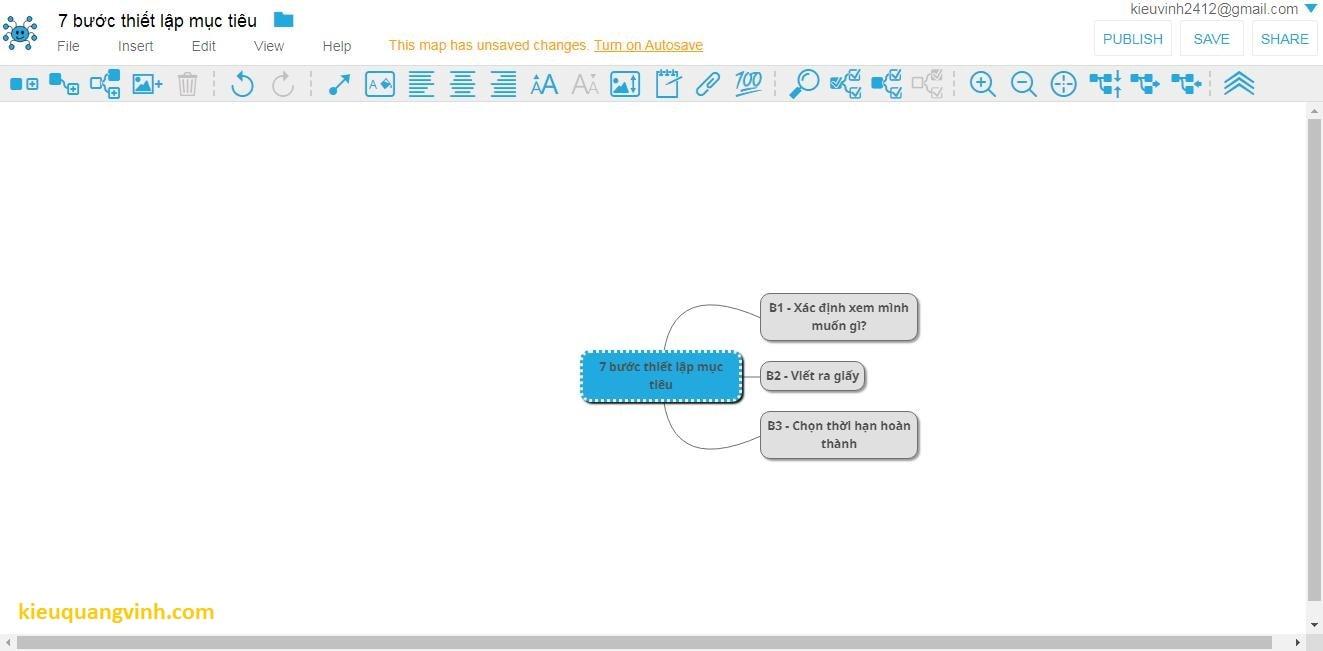 Vẽ sơ đồ tư duy mindmap trên google drive