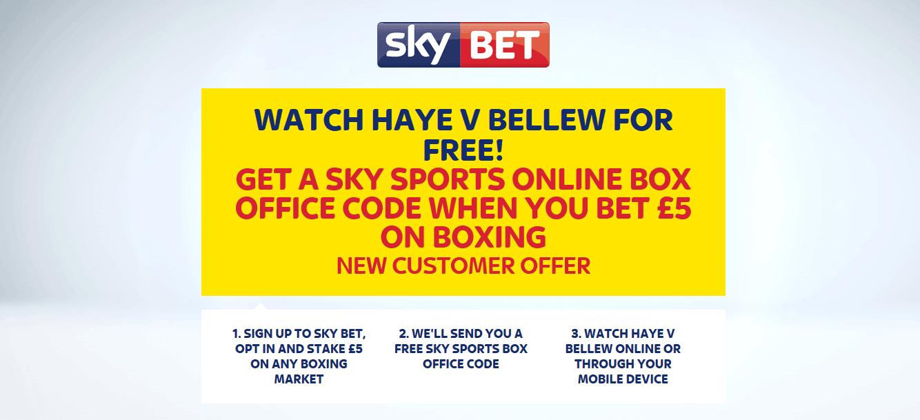 Watch Haye v Bellew Free at Sky Bet on Saturday