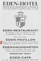 Anzeige des Eden-Hotels