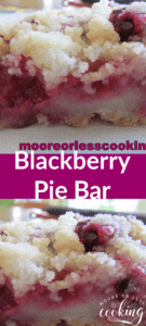 Blackberry Pie Bar