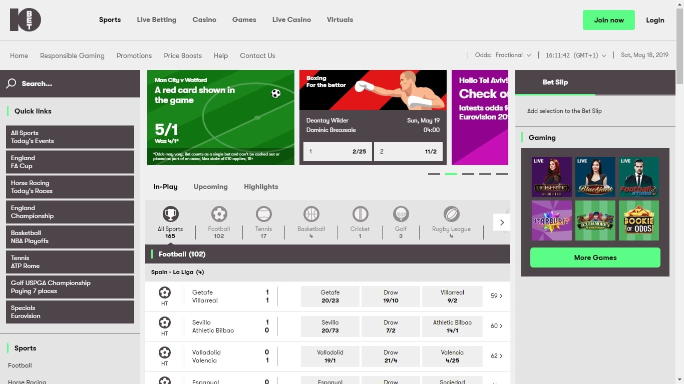 10bet Free Bet Review
