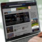 McIlwain Charter Tours digital ads displayed on laptop