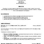 Sample Bartender Resume | Professionally Written