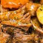 Closeup Crock Pot Beef Roast