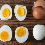 Instant Pot Hard Boiled Eggs Peeled and Cut Open