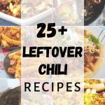 Leftover chili recipes collage