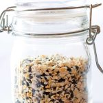 Everything Bagel Seasoning Mix in small glass container
