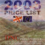 About DNC Electronics -Catalogue 2003
