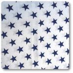 granatowe gwiazdki materiał z bawełny