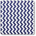 zygzaki niebiesko-białe na bawełnie