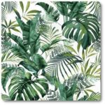 materiały zasłonowe - zielone liście