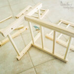 assembling project made from dowel rods