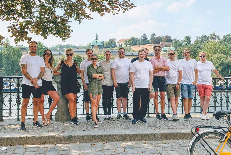 Ancon anställda 2019 på kickoff i Prag