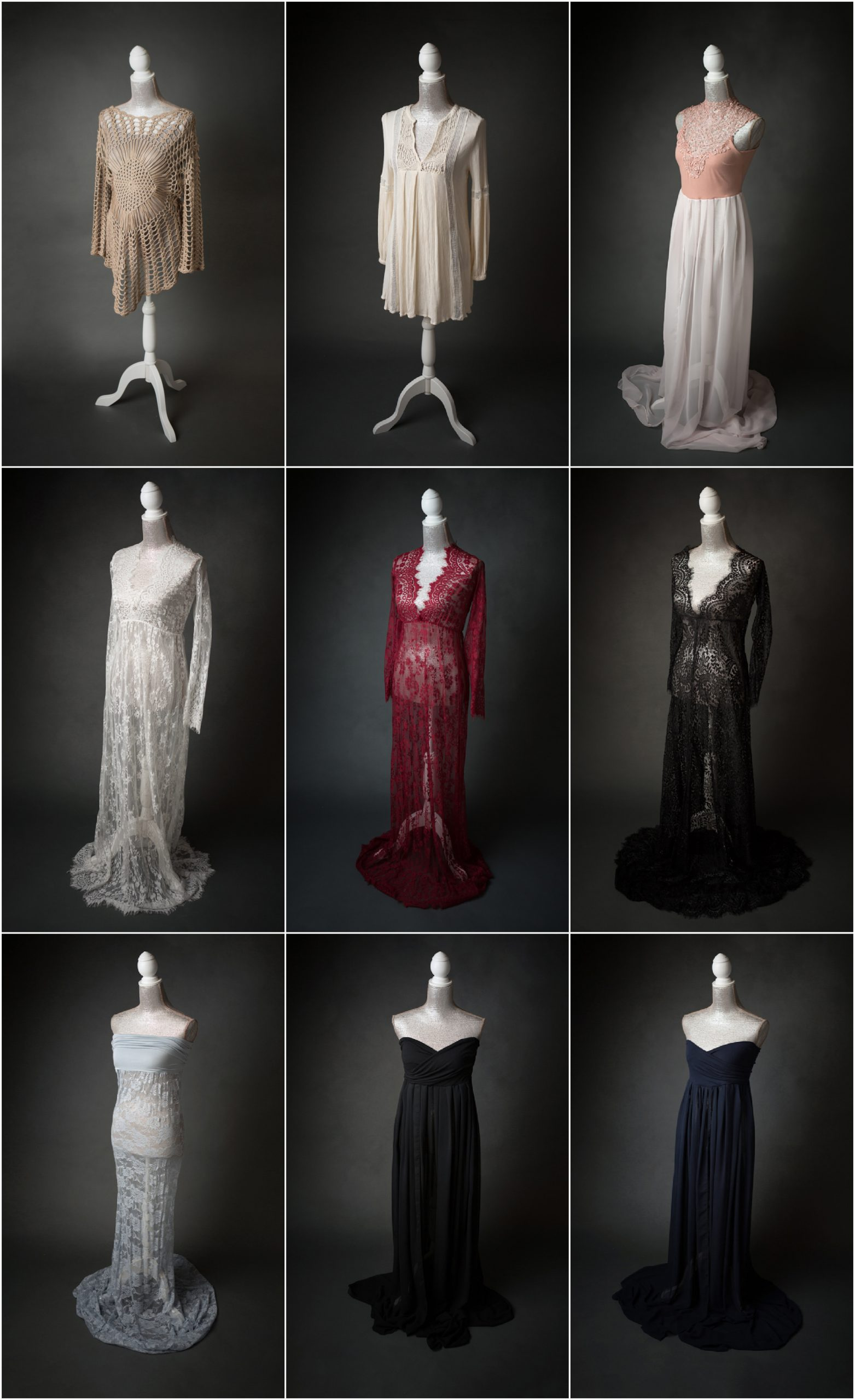 lace and sheer photo shoot dresses for portraits in san antonio, texas by jenn brookover photography