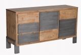 Main-Möbel Sideboard 148cm 'Varna' Akazienholz gebürstet