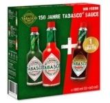 Penny Tabasco Saucen Gutschein Jubiläumspackung 3x60ml Red Pepper Jalapeno Chipotle