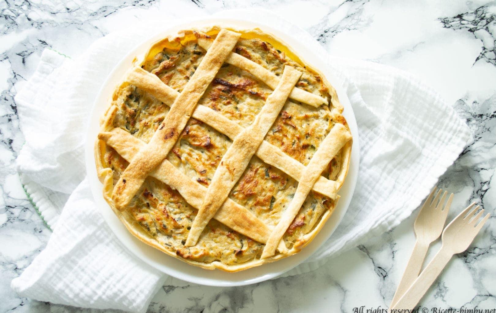 Torta salata zucchine e tonno Bimby