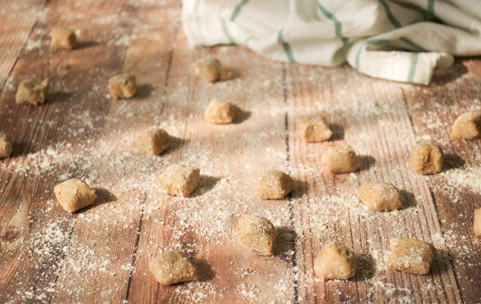 Gnocchi di patate, zucca e farina di castagne Bimby
